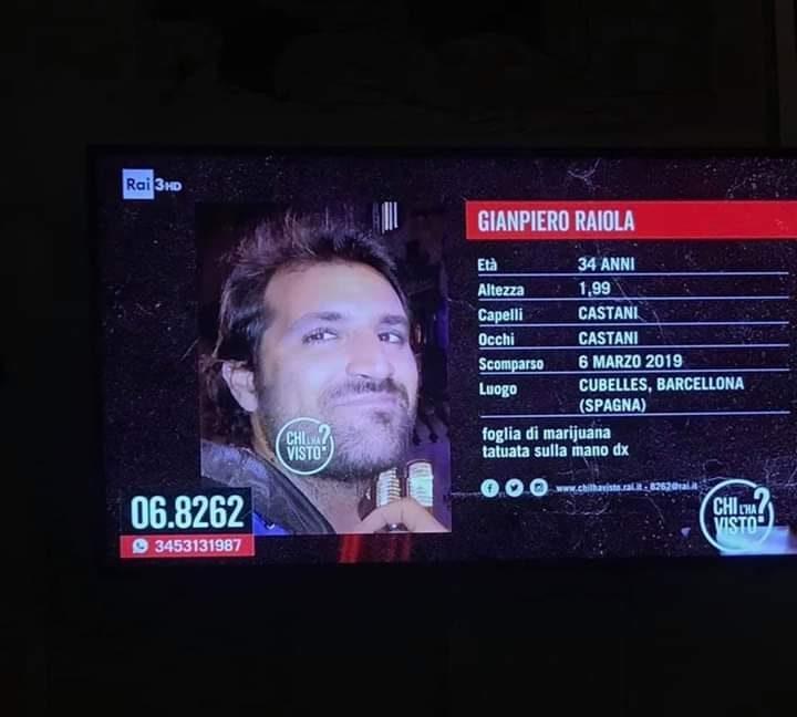 Gianpiero, 34enne di Torre Annunziata, è scomparso da un mese in Spagna