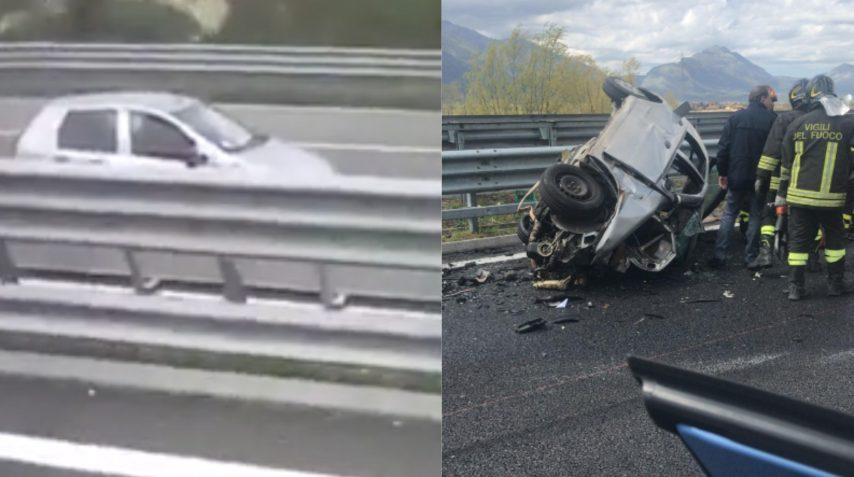 Contromano in autostrada provoca un incidente mortale: un camionista riprende la terribile scena