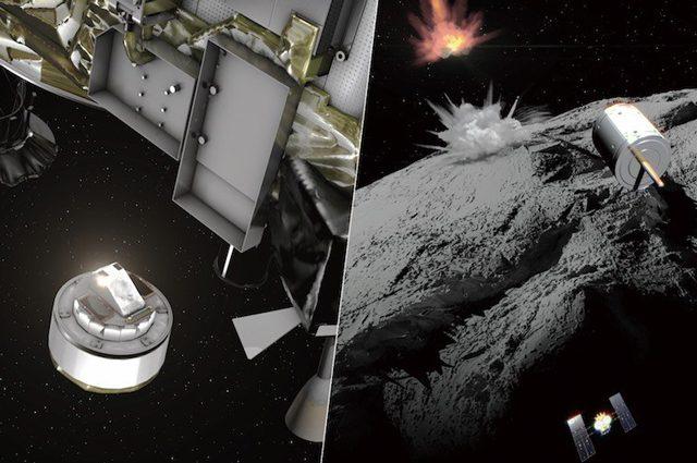 """La sonda Hayabusa 2 ha bombardato l'asteroide Ryugu: ne porterà un """"morso"""" sulla Terra"""