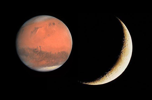 La falce di Luna duetta con Marte: quando e come vedere la danza celeste nel cielo