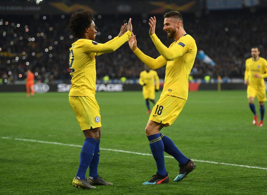 Marcatori e assist-man in EL: Willian e Giroud al top, bene Fornals (che piace al Napoli)