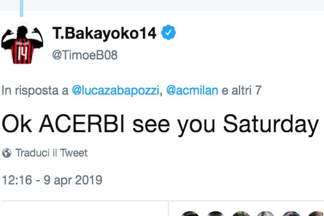 "Milan-Lazio è già iniziata, Acerbi: ""Noi più forti"". Bakayoko risponde: ""Ci vediamo sabato"""