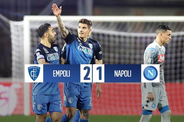 Il Napoli è con la testa all'Arsenal. L'Empoli vince 2-1 e fa punti salvezza