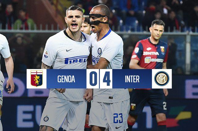 L'Inter ritrova Icardi, il gol e la vittoria: 4-0 sul Genoa e scatto Champions
