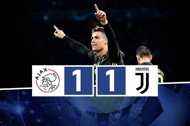 La Juventus regge l'urto dell'Ajax: il gol di CR7 avvicina i bianconeri alla semifinale
