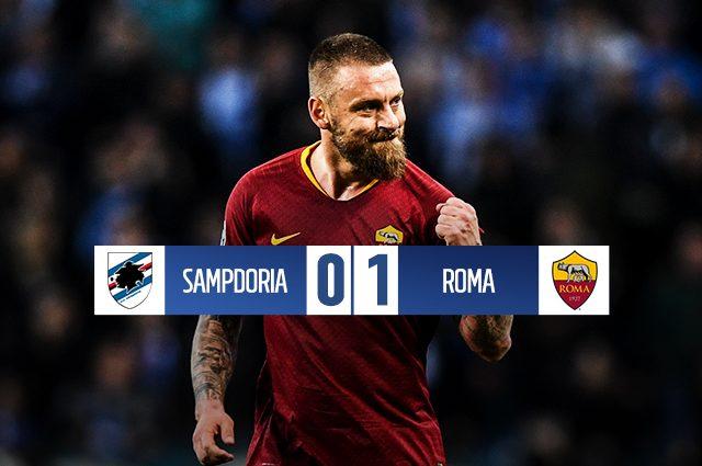 Capitan De Rossi salva Ranieri e la Roma: gol alla Samp e alle critiche