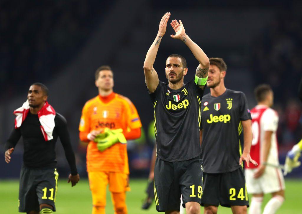 """Juventus, Bonucci traccia il cammino: """"Ora pensiamo a chiudere il campionato, poi l'Ajax"""""""