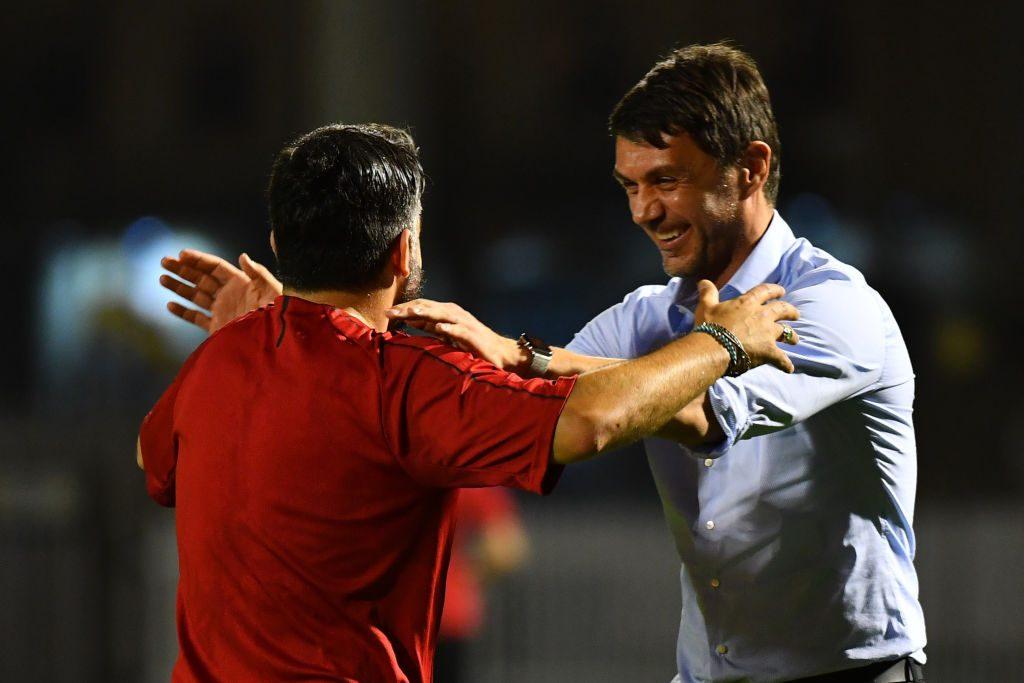 """Milan, Maldini: """"Con Gattuso rapporto leale, l'Uefa? Siamo disposti a tutto"""""""