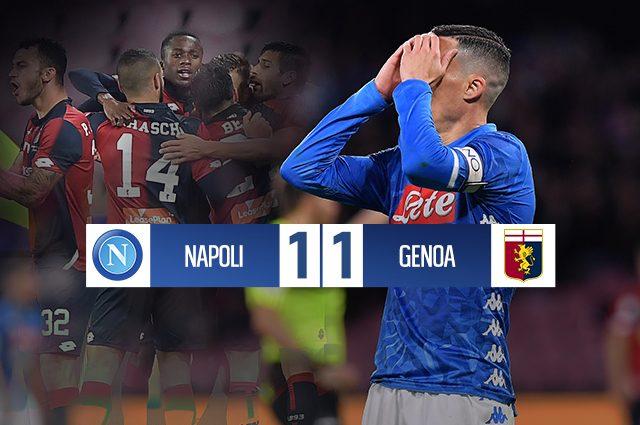 Il Genoa resiste al San Paolo: Prandelli ferma il Napoli e strappa un pareggio prezioso