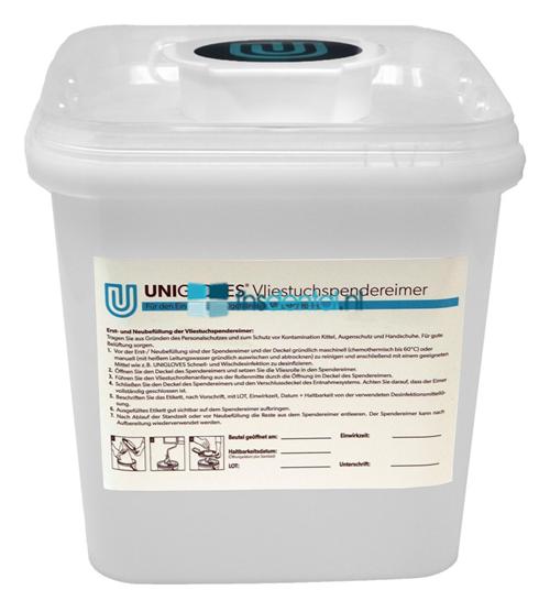 UNIGLOVES QUICK & CLEAN MAXI WIPES DISPENSER GROEN (3ltr)