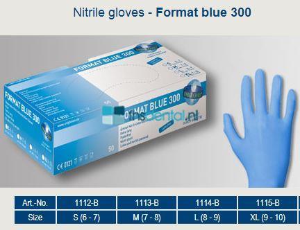 FHS HANDSCHOENEN POEDERVRIJ FORMAT BLUE 300 EXTRA STEVIG  LARGE (50st)