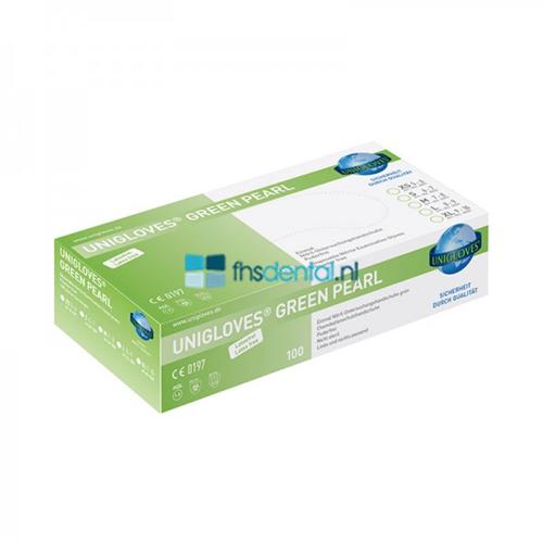 FHS HANDSCHOENEN POEDERVRIJ NITRILE GREEN PEARL EXTRA-SMALL (GROEN/100st)