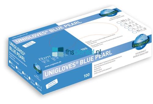 FHS HANDSCHOENEN POEDERVRIJ NITRILE BLUE PEARL MEDIUM (BLUE/100st)