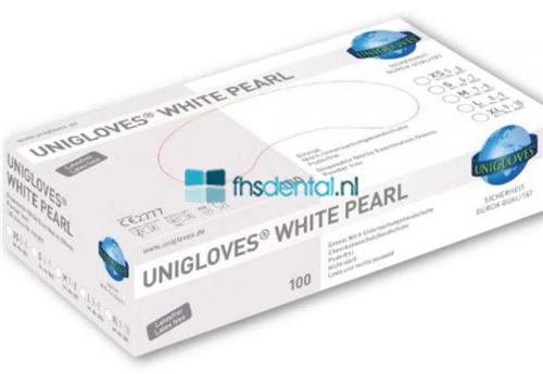 FHS HANDSCHOENEN POEDERVRIJ NITRILE WHITE PEARL SMALL (WIT/100st) GP0022