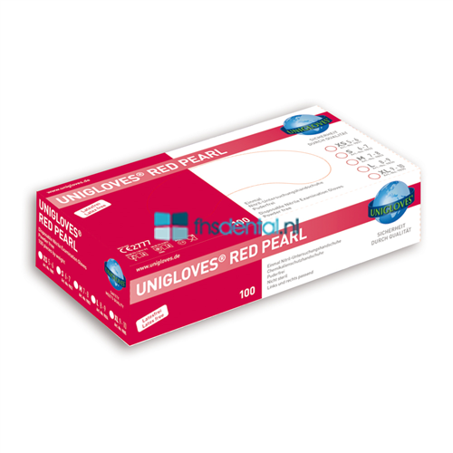 FHS HANDSCHOENEN POEDERVRIJ NITRILE UK RED PEARL SMALL (D.ROOD/100st) GP0062