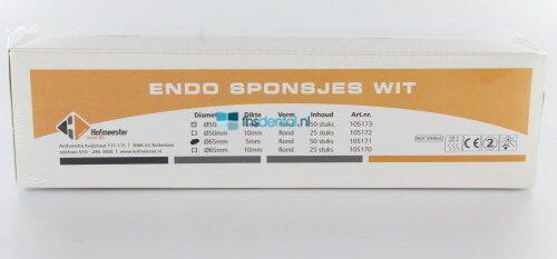 FHS ENDO SPONSJES WIT Ø 65 / 5mm (50st)