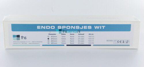 FHS ENDO SPONSJES WIT Ø 50 / 10mm (25st)