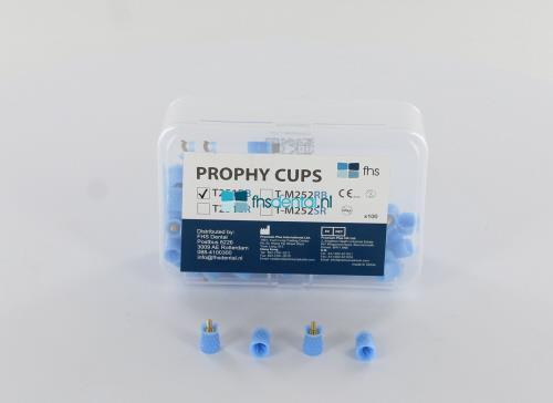FHS PROPHY CUPS SCREW-IN REGULAR BLAUW LATEX-VRIJ (100st)