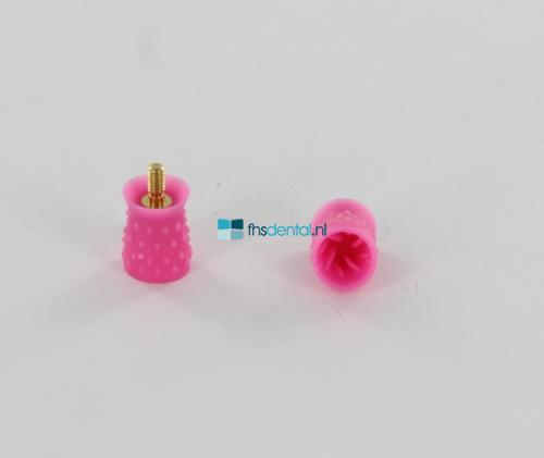 FHS PROPHY CUPS SCREW-IN SOFT ROZE LATEX-VRIJ(100st)