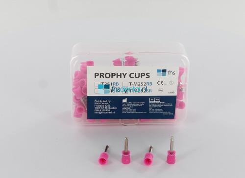 FHS PROPHY CUPS RA SOFT ROZE LATEX-VRIJ (100st)