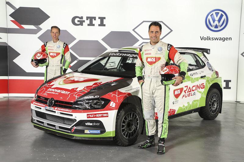 Il MOL Racing Team con la Polo nell'ERC 2019