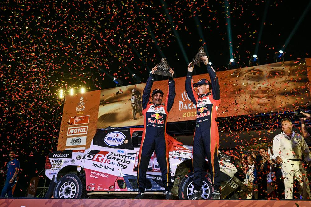 ERC winner Al-Attiyah is a Dakar hat-trick hero