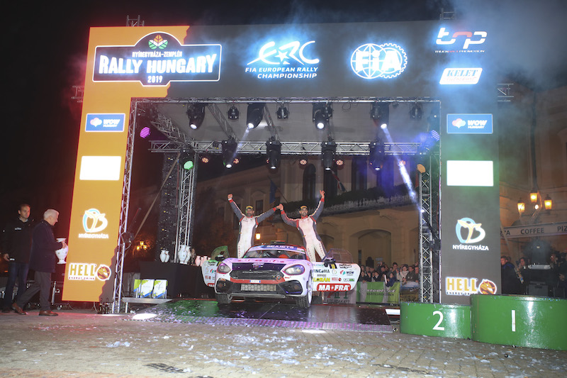 Celebration time for ERC Abarth Rally Cup winner Nucita