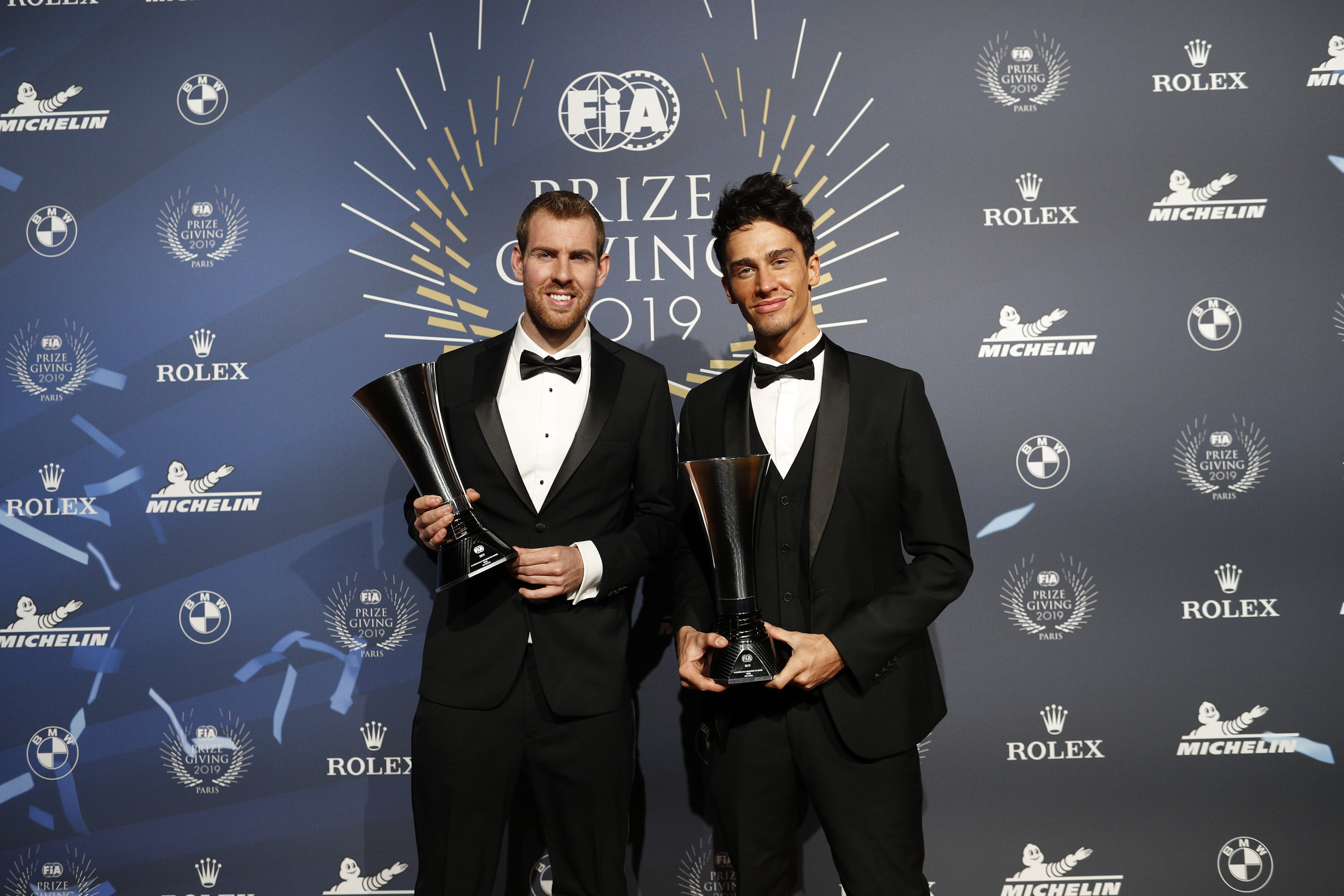 Ingram et Whittock officiellement couronnés champions FIA ERC à Paris aux côtés de Lewis Hamilton