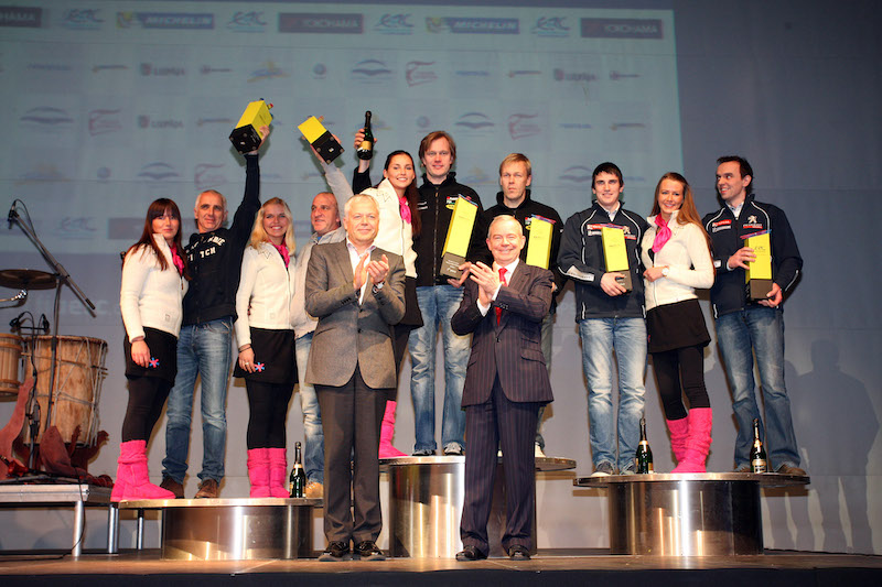 The first ERC Rally Liepaja podium