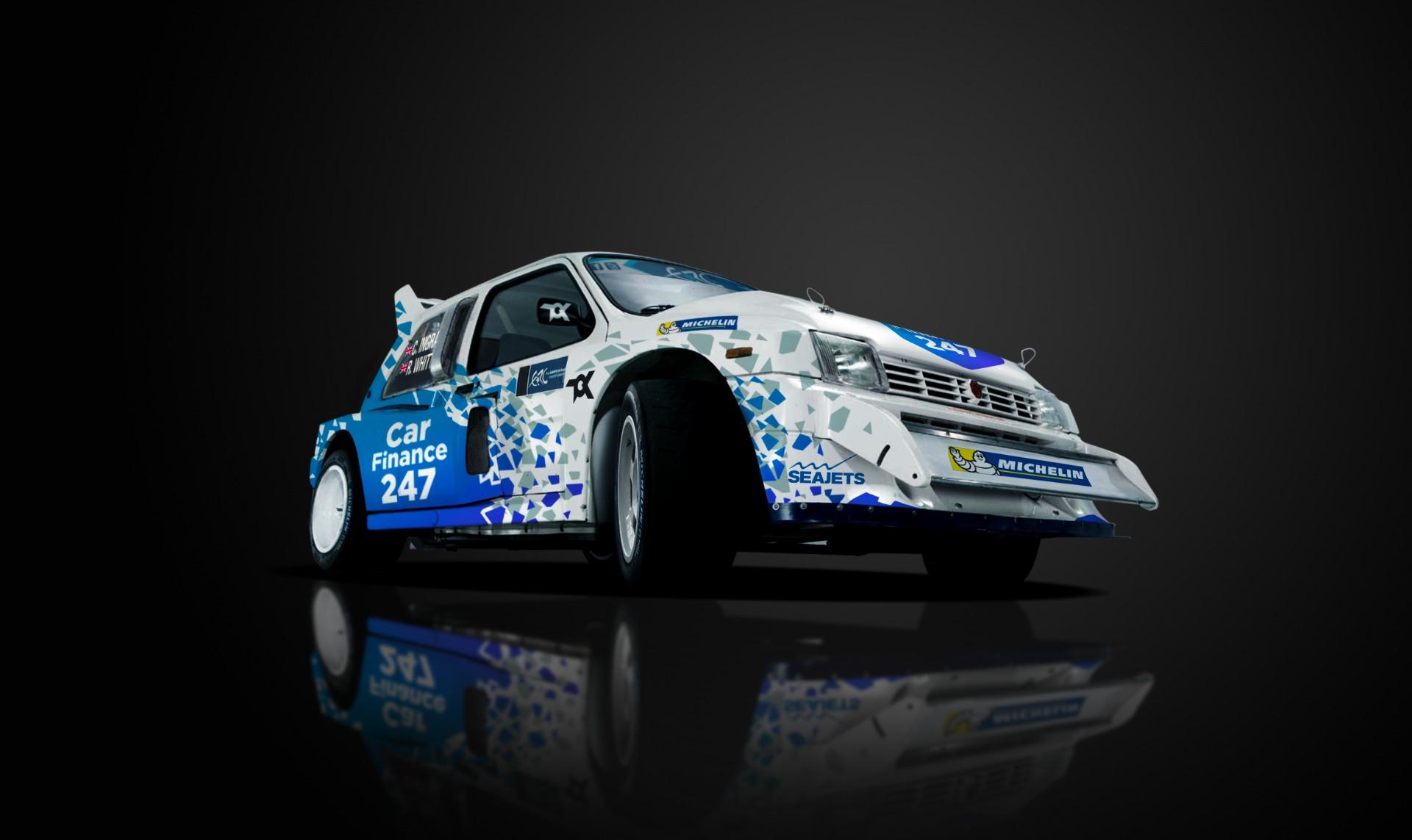 Ingram con la MG Metro 6R4 per la ERC Legends Series