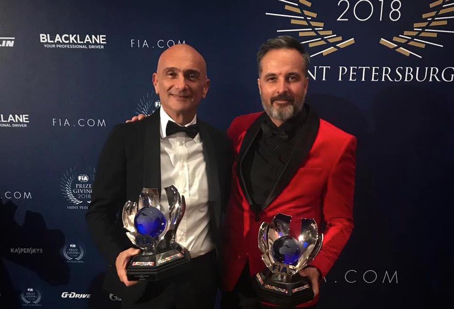 Les champions du WTCR OSCARO honorés par la FIA en Russie en présence d'Hamilton