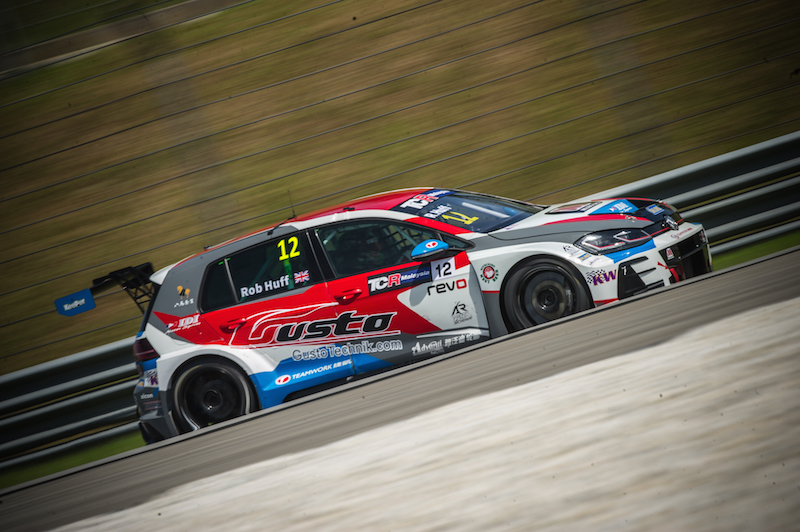 WTCR racer Huff at the double