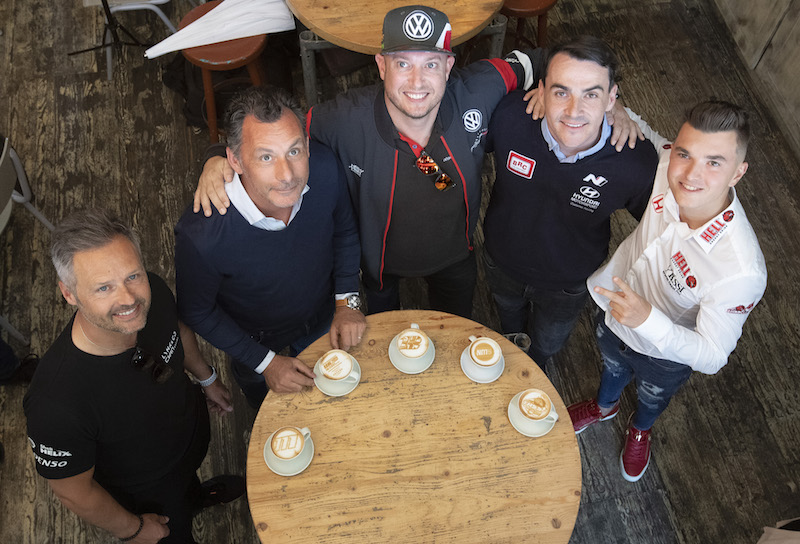 Racers turn baristas ahead of WTCR Race of Hungary