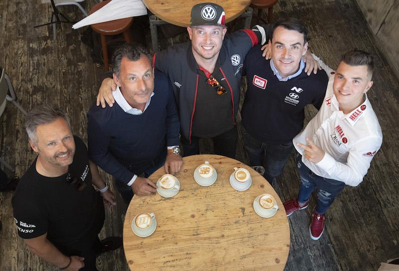 Racers turn baristas ahead of WTCR Race of Hungary
