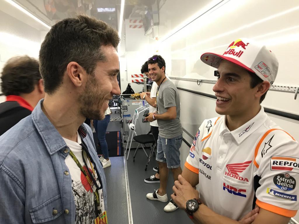 Spitzenreiter-Treffen: WTCR-Star Guerrieri trifft MotoGP-Star Marquez