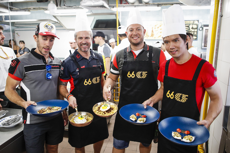 WTCR drivers take on gastronomy challenge