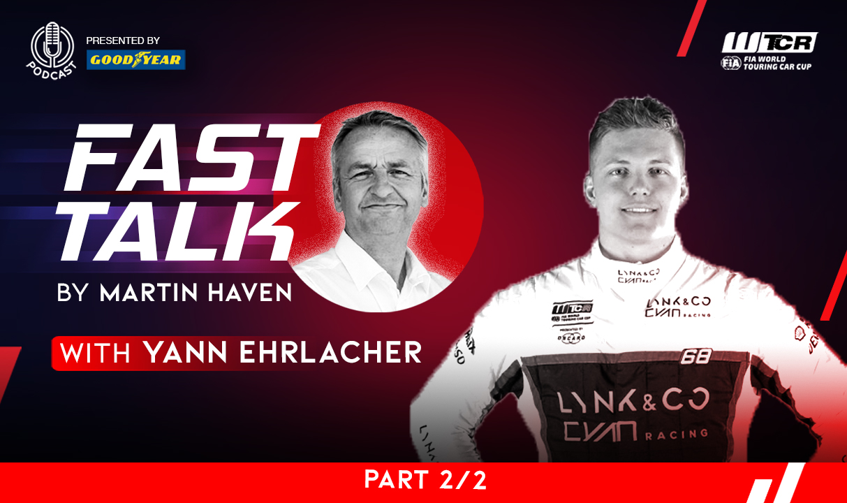 Starting on snow and ending up on ice: part two of Yann Ehrlacher's WTCR Fast Talk podcast presented by Goodyear available now