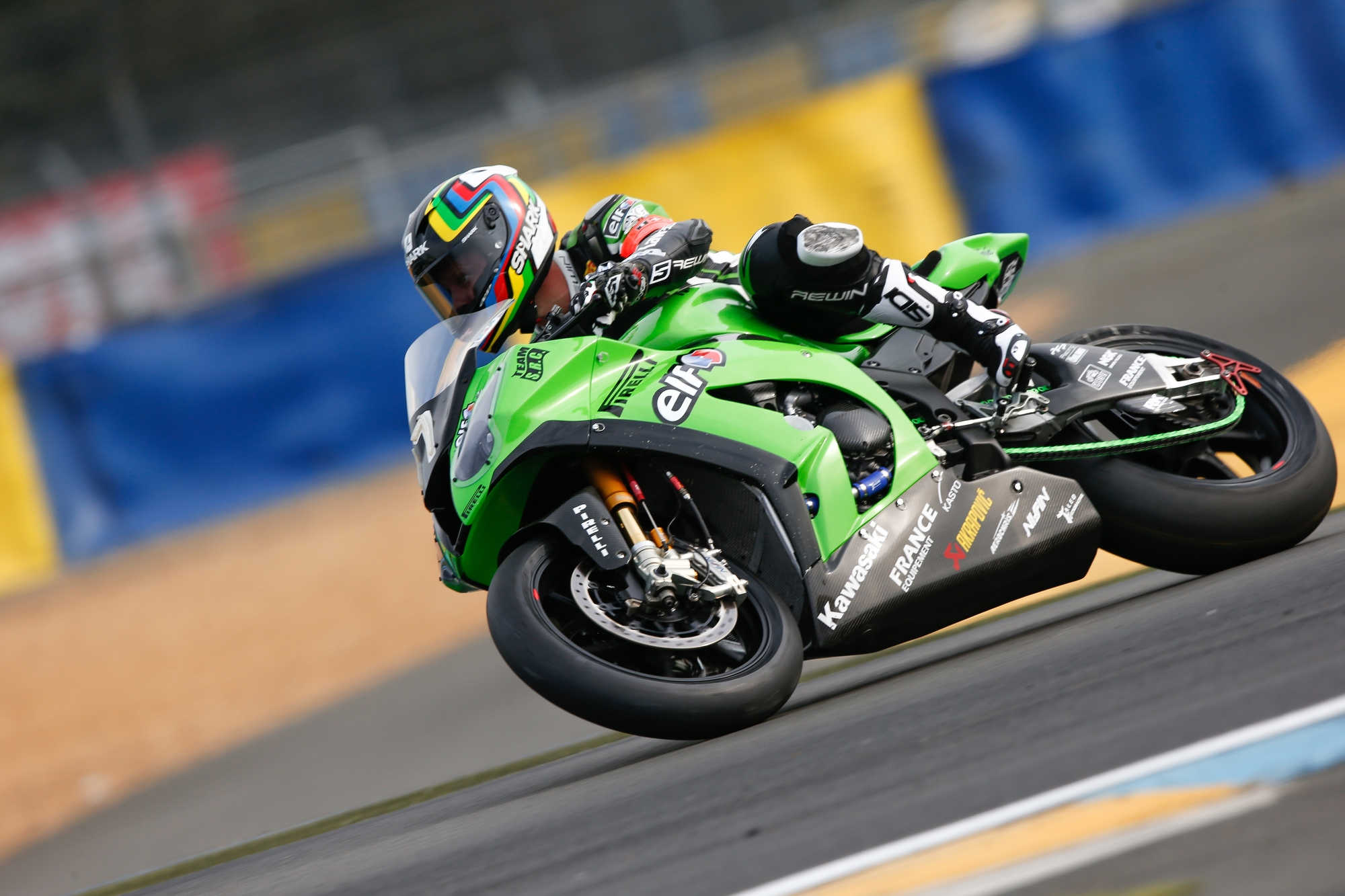 src kawasaki in pole position on 24 heures motos in le mans fim ewc endurance world championship. Black Bedroom Furniture Sets. Home Design Ideas
