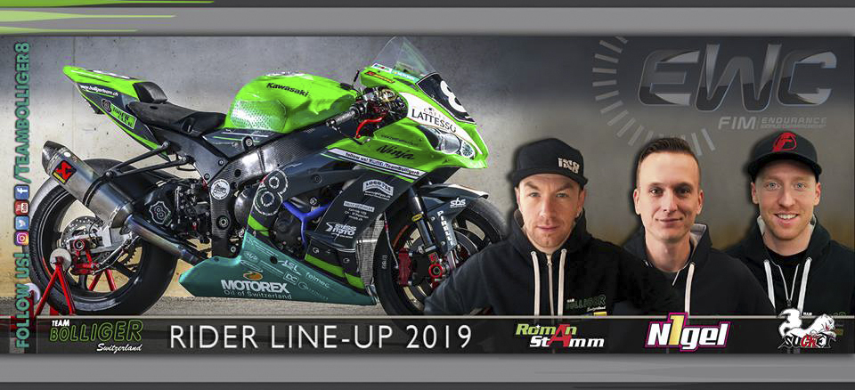 Bolliger Team's new trio of riders