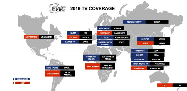 2019 FIM EWC TV Coverage