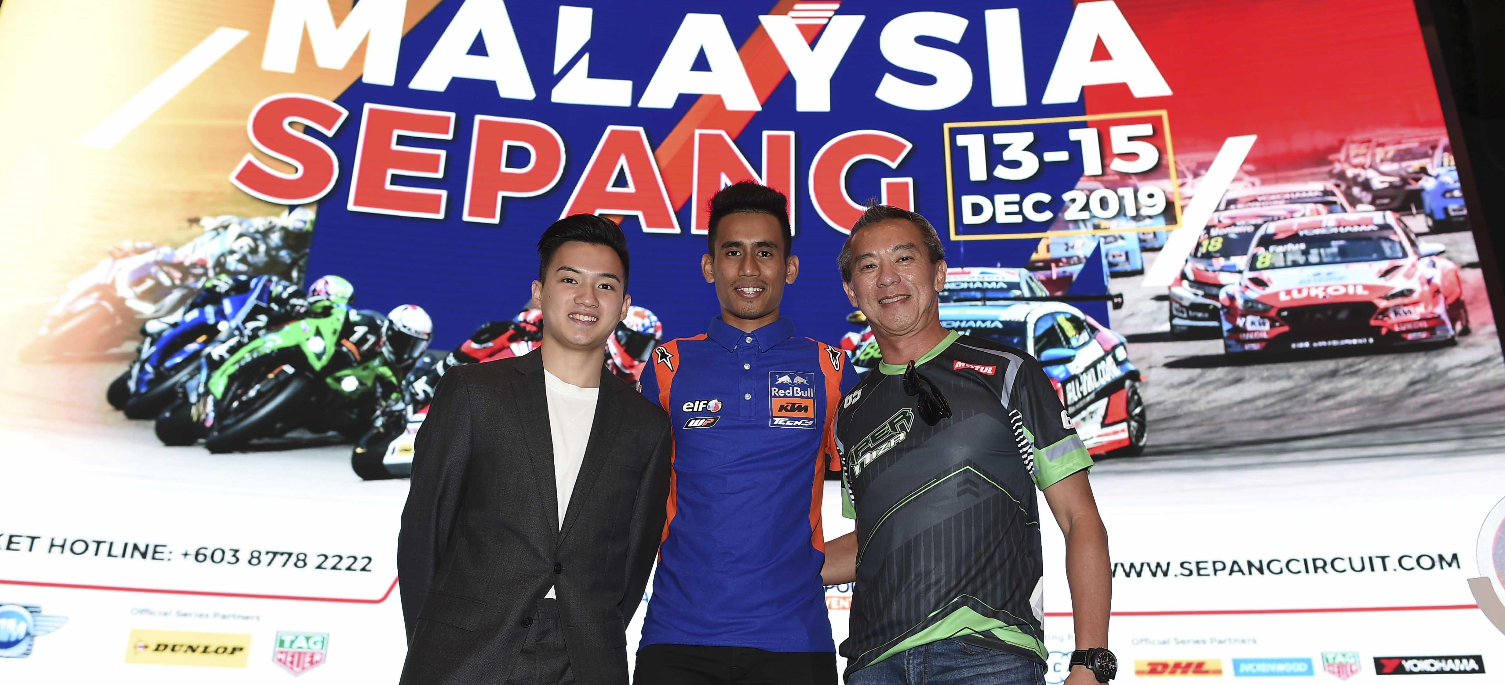Malaysian MotoGP rider, Hafizh Syahrin, at 8 Hours of Sepang