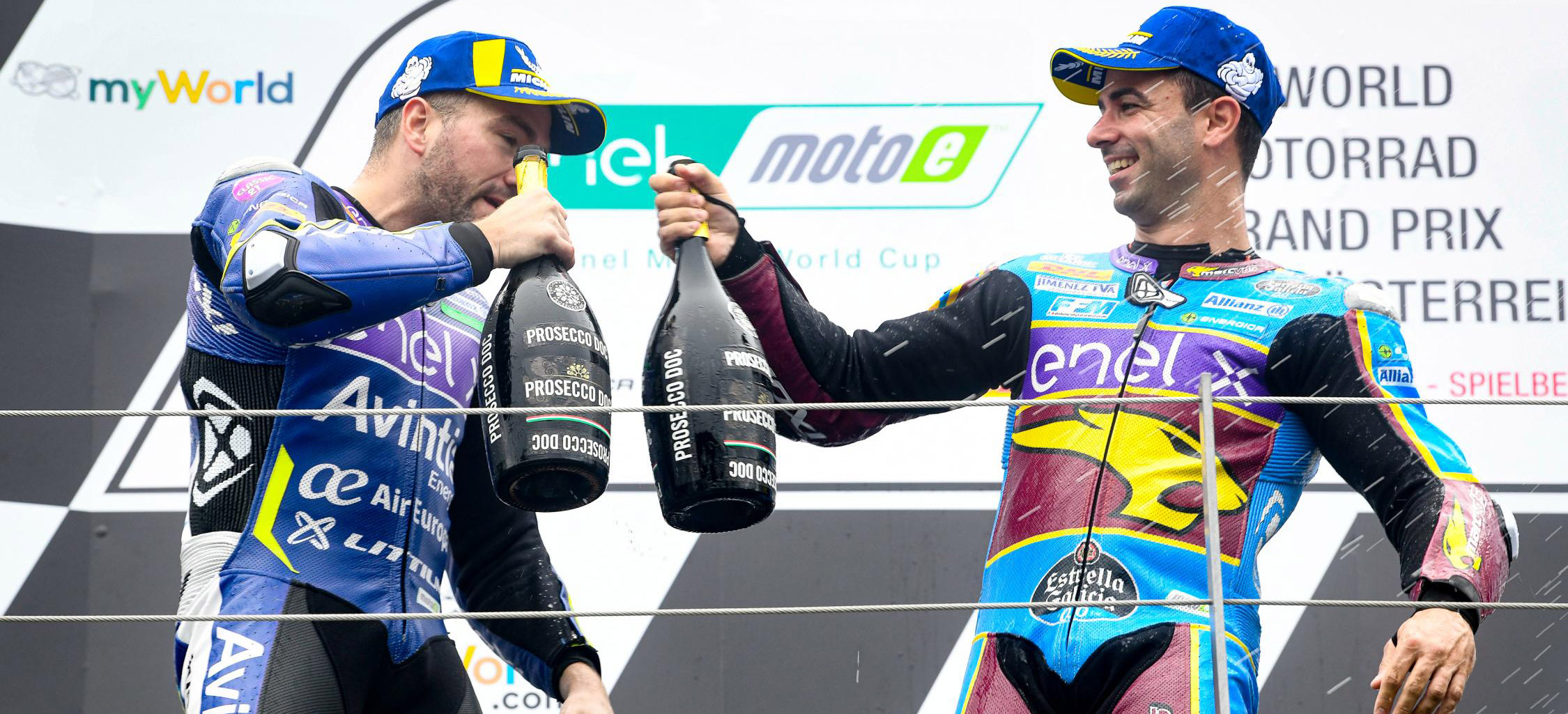 Di Meglio and Siméon on MotoE podium