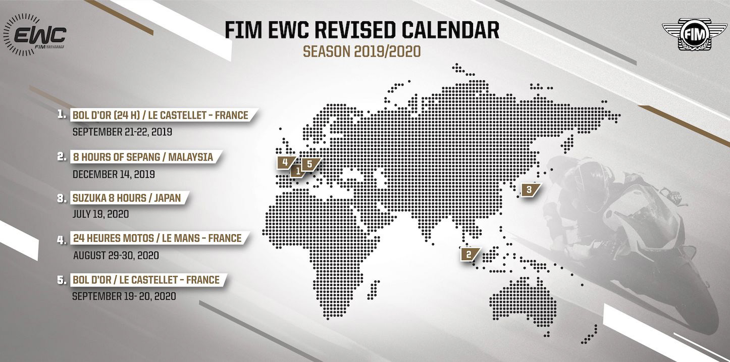 Exceptional decisions for the 2019-2020 FIM EWC