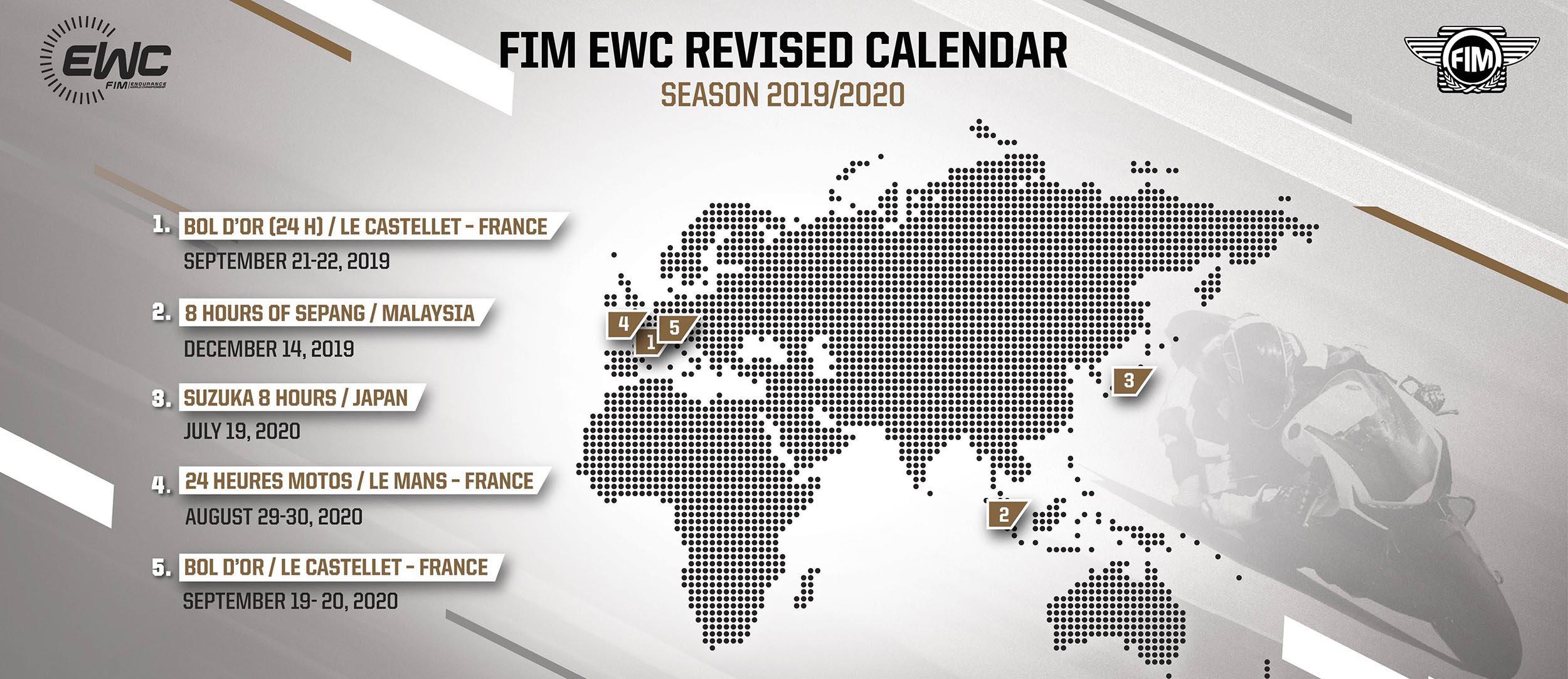 Những quyết định đặc biệt dành cho FIM EWC 2019-2020