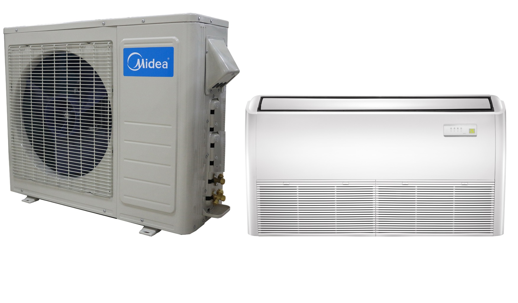 #175EB4 Midea 12000 Btu 19 Seer Universal Mount Mini Split Heat  Most Effective 7075 Wall Mount Package Ac Units pictures with 1751x1024 px on helpvideos.info - Air Conditioners, Air Coolers and more