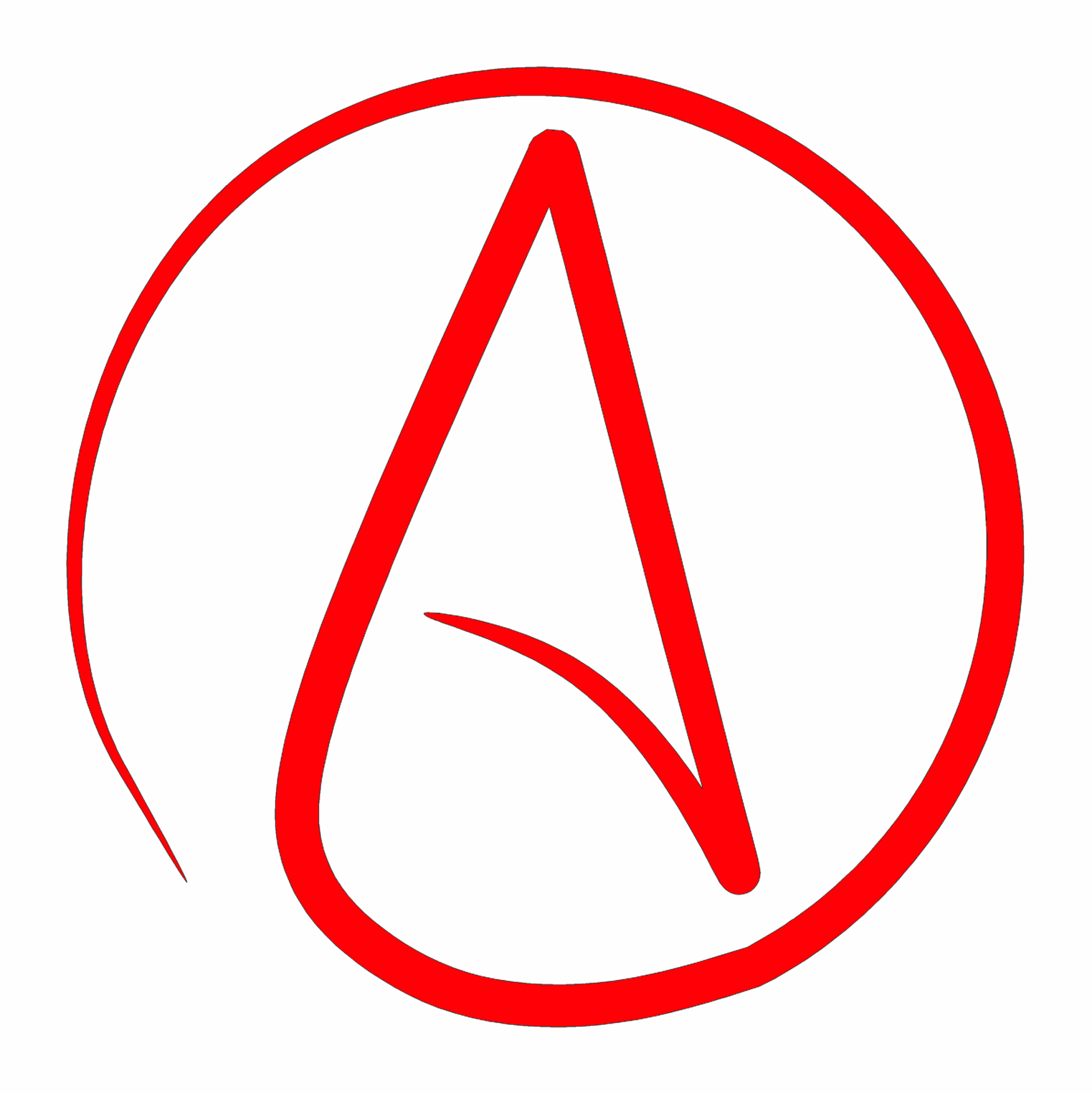 Atheist Symbol canvas tote bag design