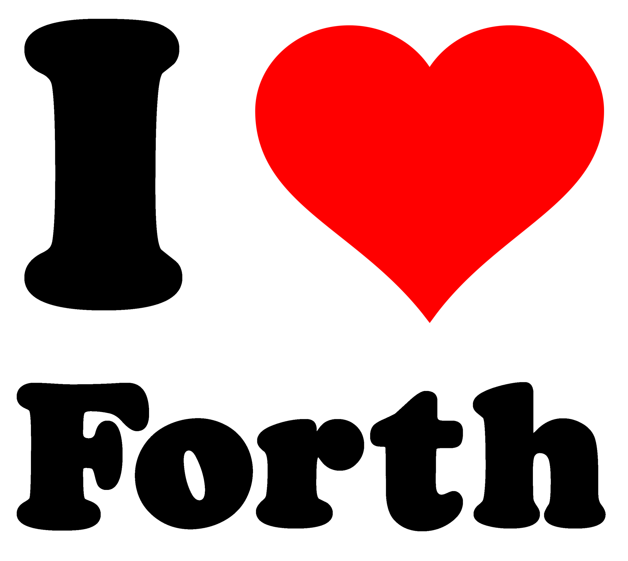 I heart Forth tee shirt design