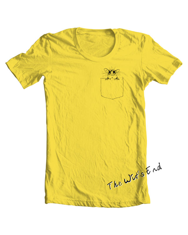 Pocket Glider - sugar glider in pocket tee example