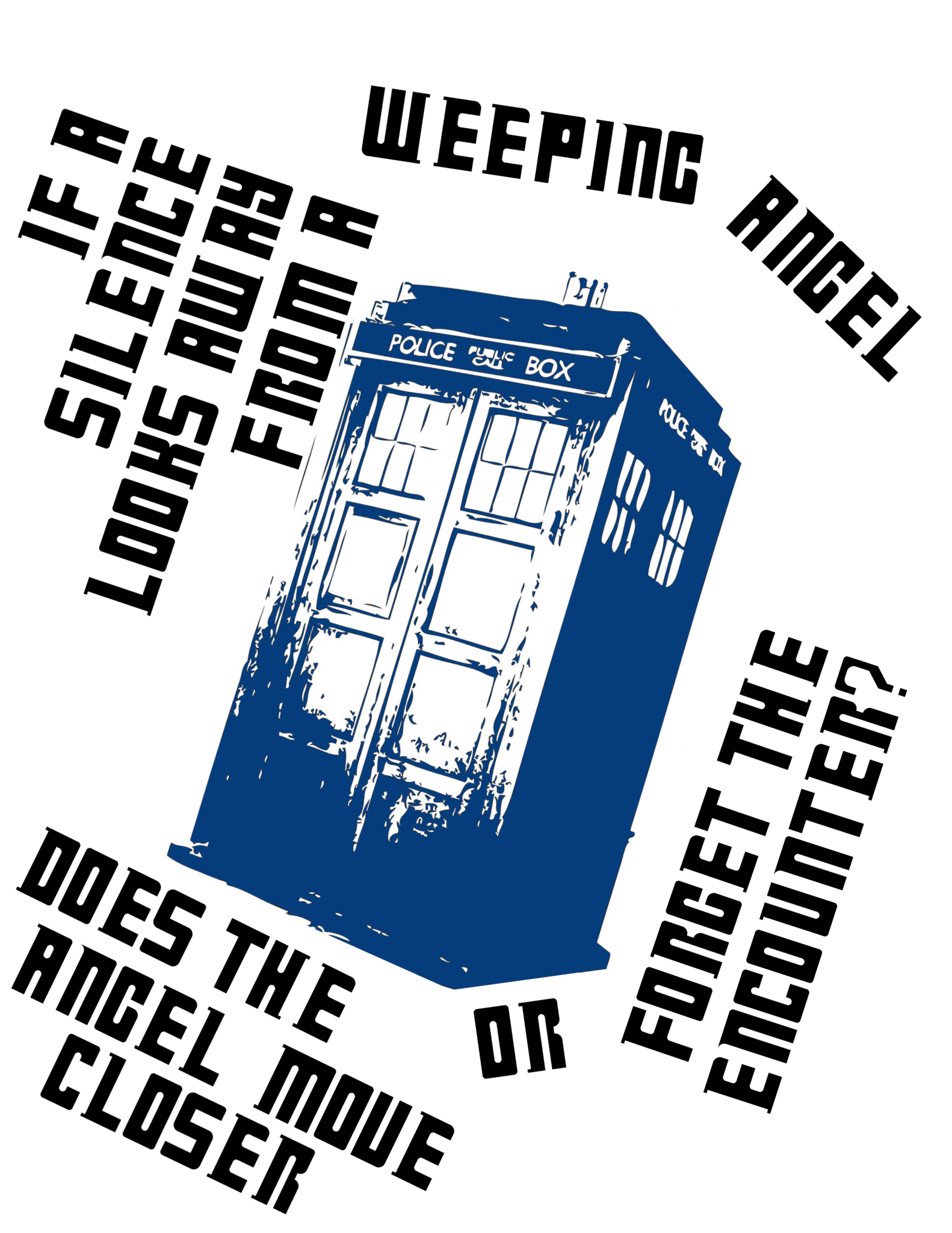 Silence vs. Weeping Angel question - Dr. Who inspired design