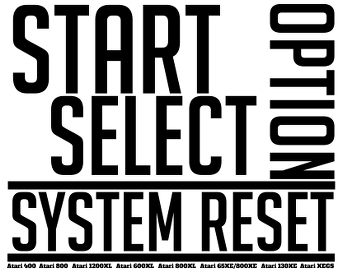 Start Select Option System Reset - Atari 8-bit